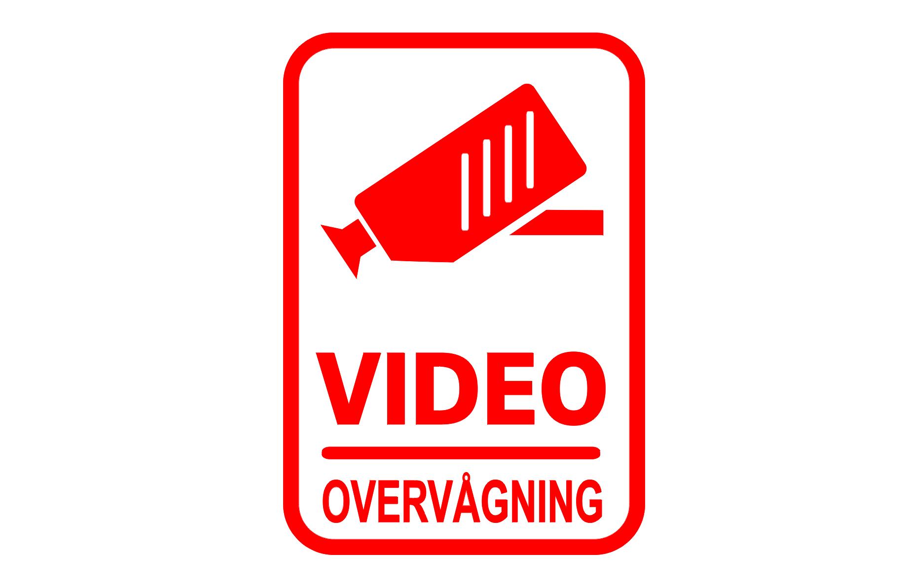 ALARM Skilte VIDEO Overvågning