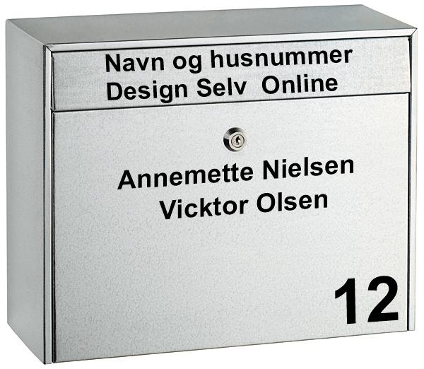 navne stickers til postkasse