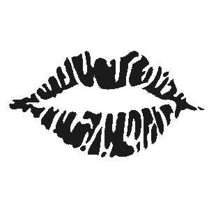 kys, kysser, læbeaftryk, selvklæbende