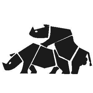 næsehorn, paring, stikkers, klistermærke
