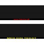 nummerpladeholder med navn tekst farver