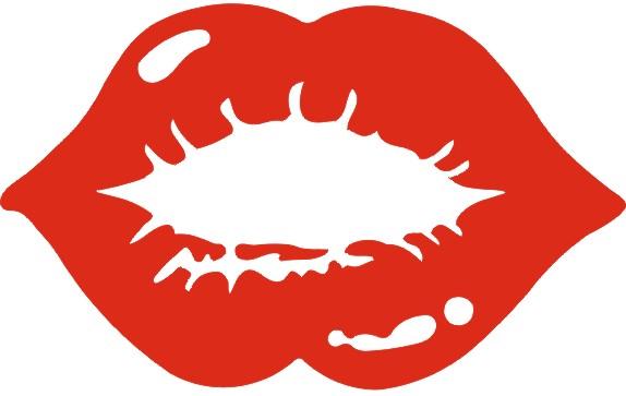 røde læber, kys, kys, stikker